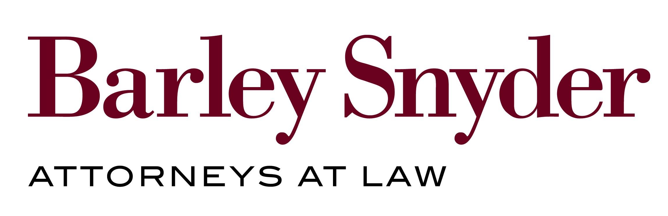 Barley Snyder Attorneys at Law Sponsor Logo